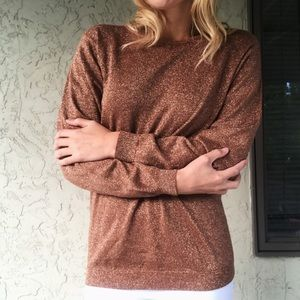 Sparkly copper sweater